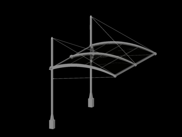 Metal Frame For Canopy Covered Parking 188 04 Kb Bibliocad