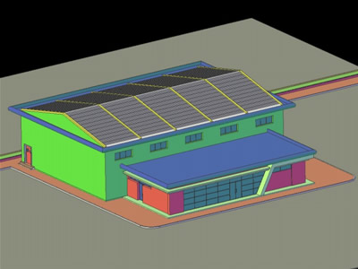 Covered Arena in 3d