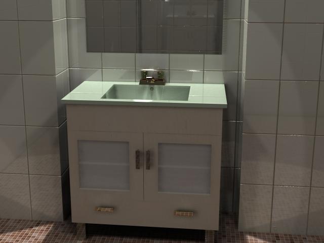 Mueble para ba o con lavabo espejo y gaveta de 80 cm kb bibliocad - Espejos para lavabos ...