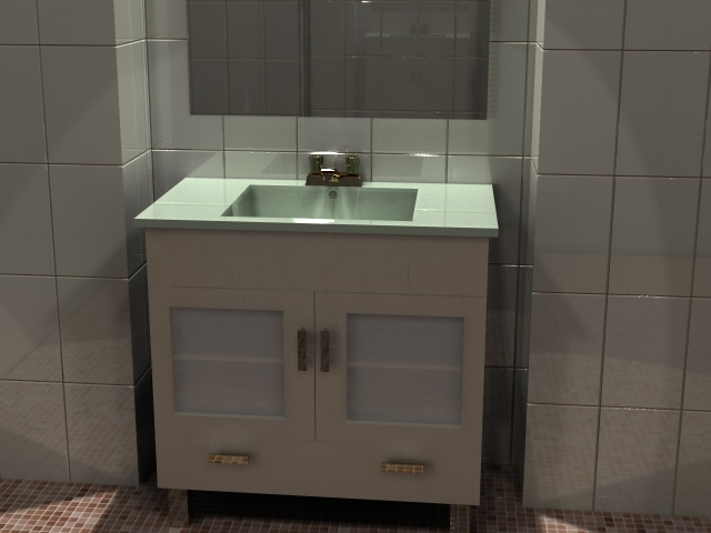 Mueble para ba o con lavabo espejo y gaveta de 80 cm for Mueble lavabo pedestal ikea