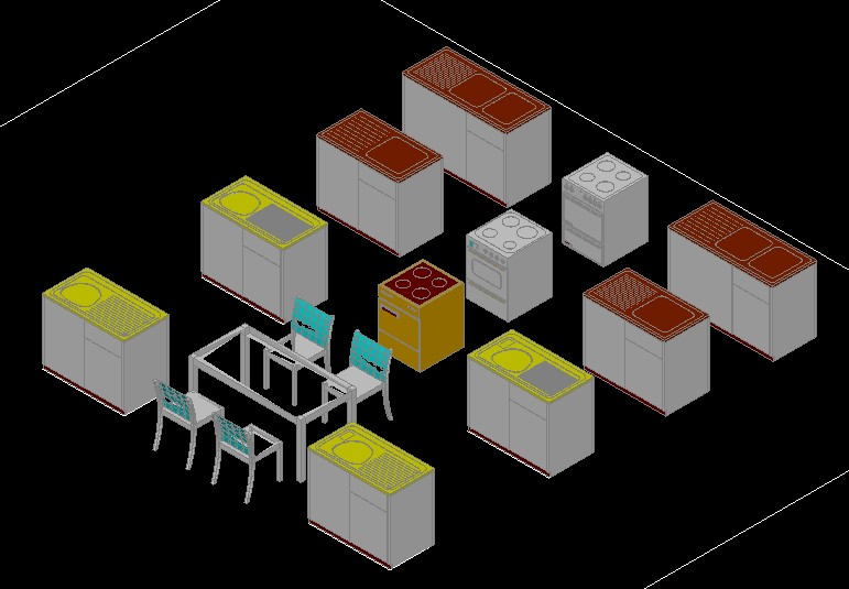 ▷ domestic furniture and appliances in 3d (1. 56 mb) | bibliocad.
