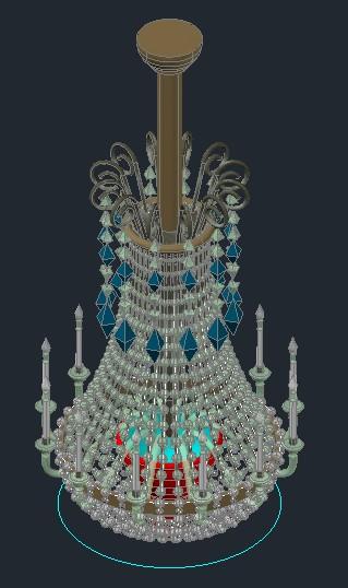 Chandelier glass candlesticks 3d bibliocad chandelier glass candlesticks 3d dwg mozeypictures Images