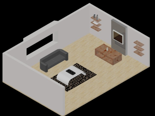 Living room 3d in AutoCAD | Download CAD free (1 05 MB