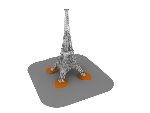 Eiffel Tower, Paris, 1887
