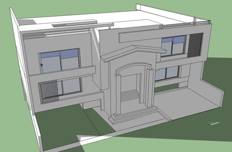 One family housing 3D  --- IRAQ