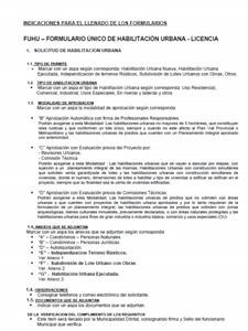 INSTRUCCIONES PARA LLENADO DE FUHU