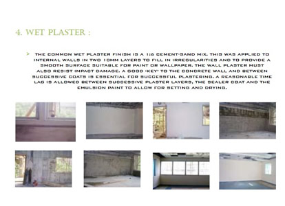 Varieties of Interior and Exterior Wall Finishes