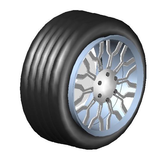 Rueda de coche 3d en AutoCAD | Descargar CAD gratis (372 ...