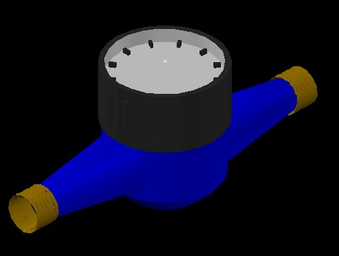 3d water meter / tester / water in AutoCAD | CAD (54 5 KB) | Bibliocad