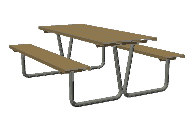 Picnic Table In AutoCAD CAD Download KB Bibliocad - Picnic table dwg