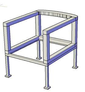 3D Chair - bearing structure
