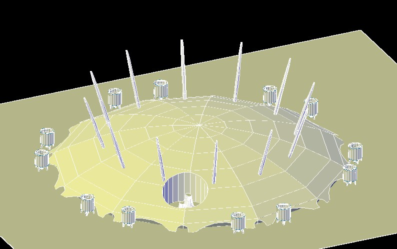 London The O2 Arena In Autocad Cad Download 688 9 Kb