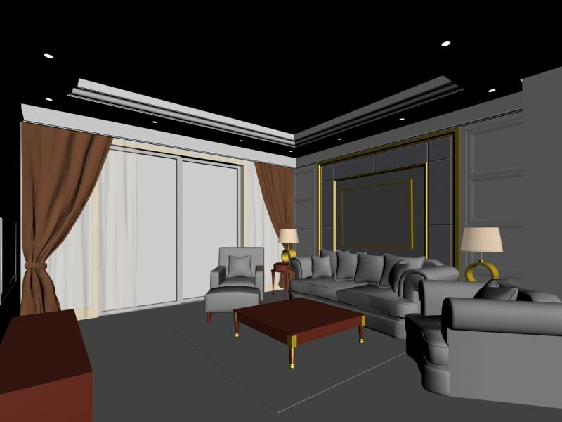 Marvelous 3d Living Room