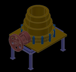 Conical Crusher 3D