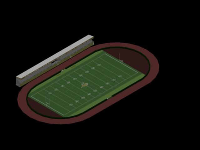 AN AMERICAN FOOTBALL STADIUM