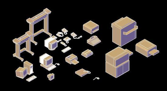 Equipamiento y artefactos de computacion 3d
