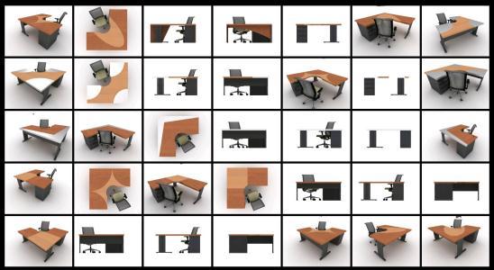 Office Desks 3d Max In Max Cad Download 5 94 Mb Bibliocad
