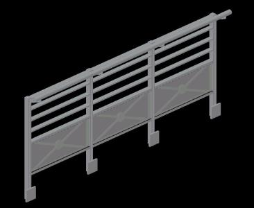 3d steel railing in AutoCAD | CAD download (199 99 KB) | Bibliocad