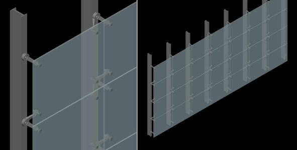 3d Curtain Wall In Autocad Cad Download 1 16 Mb