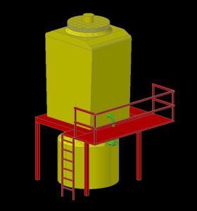 Torre de enfriamiento 3D