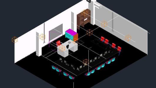 Sala de computo 3d en AutoCAD   Descargar CAD (1.00 MB)   Bibliocad