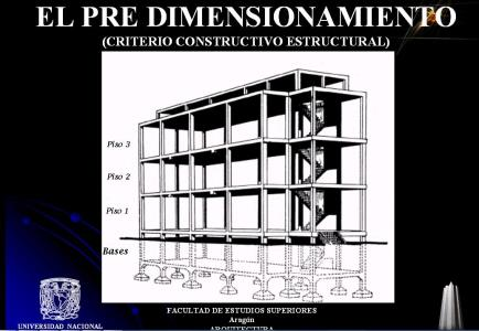 Pre-dimensioning of beams, columns, foundation