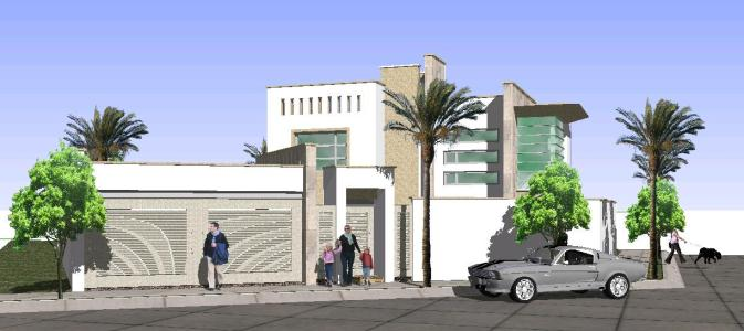 Casa moderna en skp descargar cad mb bibliocad for Casa moderna sketchup download