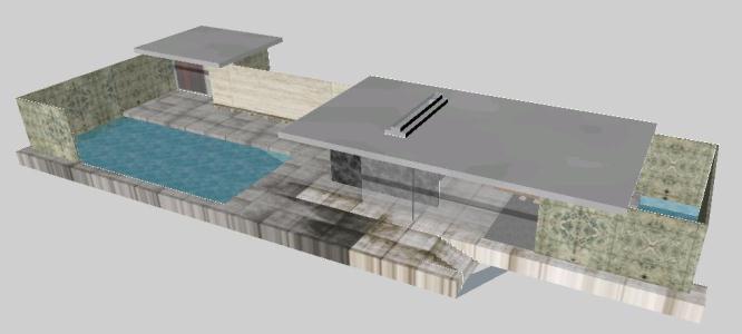 Barcelona Pavilion 3d In Skp Download Cad Free 4 12 Mb Bibliocad
