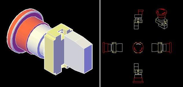 Botón de emergencia 3D