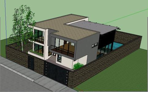 Casa minimalista en zip descargar cad mb bibliocad for Casa minimalista 90m2