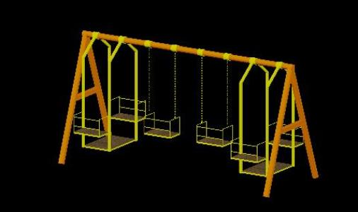 Swing 3d In Autocad Cad Download 685 47 Kb Bibliocad