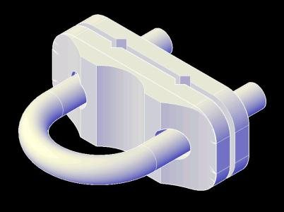 CONECTOR CABLE A TUBERIA 3D