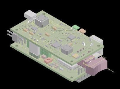Diseño Placa electrónica con componentes Reales a escala 1:1