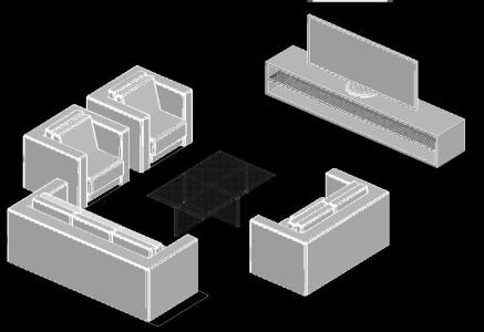 3d Sofa With Tv Stand In Autocad Download Cad Free 529