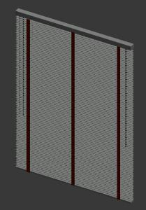 Wood blind persiana de madera 3D