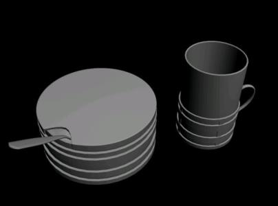 3D Crockery - Coffee - Sugar