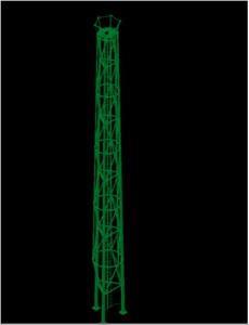 TORRE 3D TRIPOIDAL 25 MTS ALUMBRADO PUBLICO