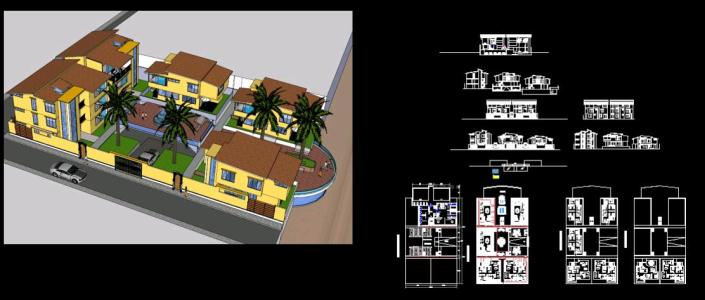 Residential Complex Style 2D 3D Y