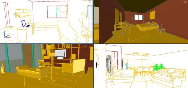 3d house accommodation in 3 Dimensions
