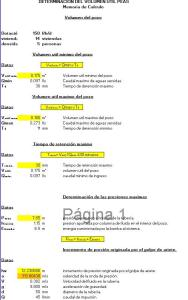 Spreadsheet calculation treatment plant as (28 46 KB