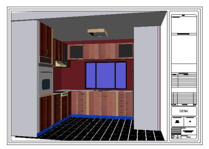 Integral kitchen 3D