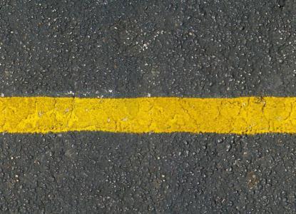 Franja de asfalto