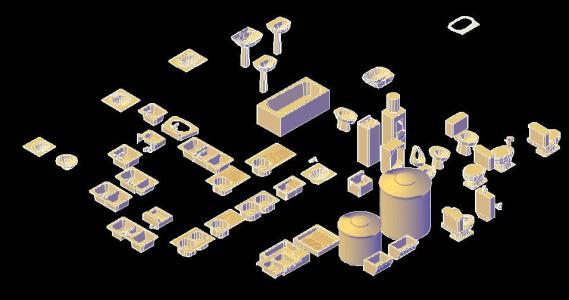 Sanitary Blocks 3d Blocks 3d In Autocad Cad 272 46 Kb