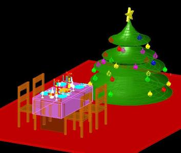 Christmas Table  3d