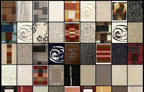 Colección de texturas para alfombras y tapetes