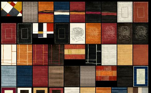 Collection of textures for rugs or carpets