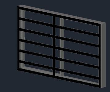 Window with Grilles 2.00 x 1.20  .