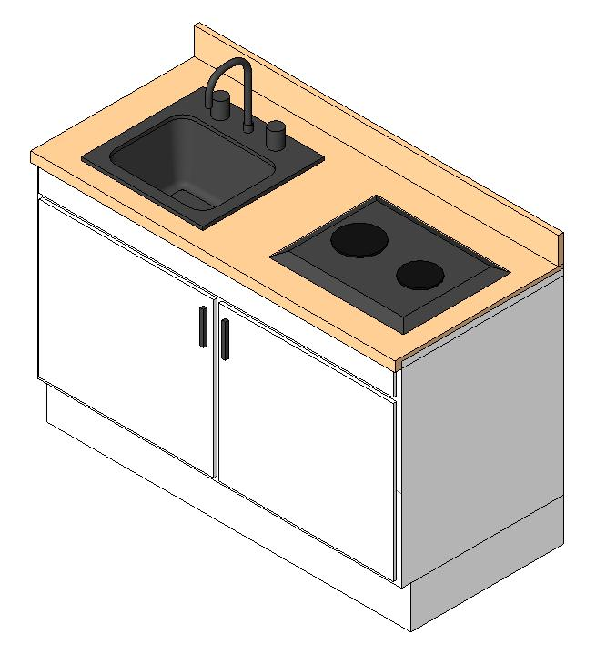 Kitchenette 3d In AutoCAD