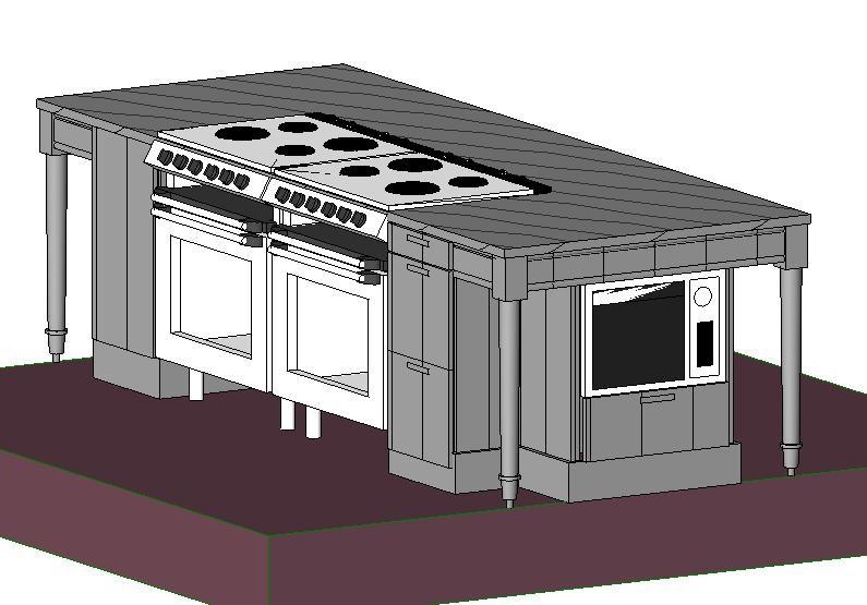 Cocina mueble isla en rfa descargar cad 1 mb bibliocad for Mueble isla cocina