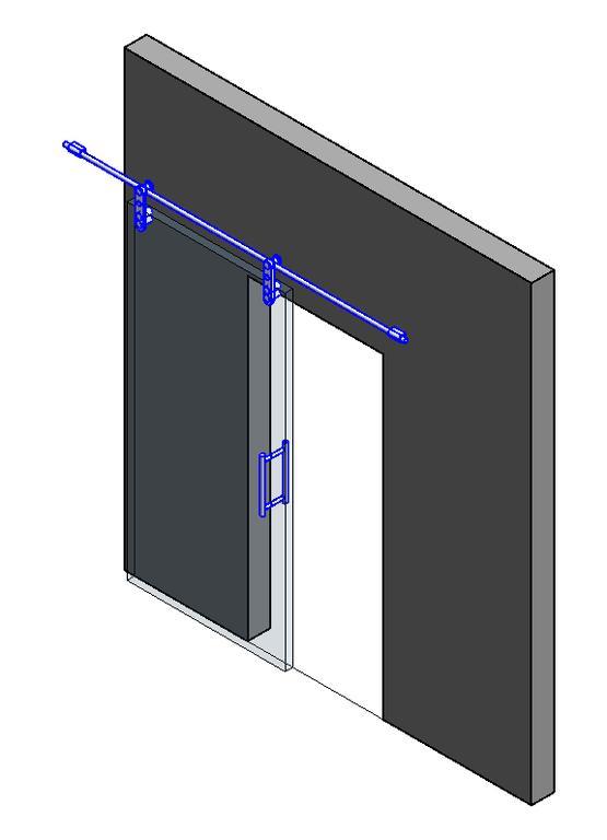 Puerta corredera en autocad descargar cad kb bibliocad - Puerta empotrada corredera ...